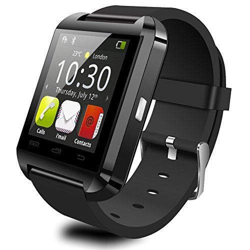 Efoshm V8 Wireless Bluetooth V3.0 Touch Screen Smart Bracelet Watch for Android and iOS Smartphones - Black