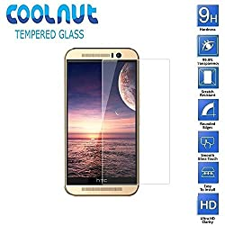 COOLNUT Tempered Glass Screen Protector Guard for HTC One M9