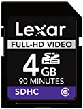 Lexar Full-HD 4GB Class 6 High Speed SDHC Video Memory Card