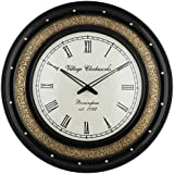 Swagger 12 Inch Dial 18X18 Inches Half Metal Designer Wall Clock / Vintage Wall Clock / Wooden Wall Clock / Antique Wall Clock