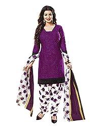 Aarvi Women's Cotton Unstiched Dress Material Multicolor -CV00093