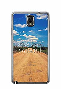 YuBingo Start Being Awesome Designer Mobile Case Back Cover for Samsung Galaxy Note 3