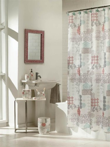 gray polyester curtain shower merge p elegant curtains lace luxury