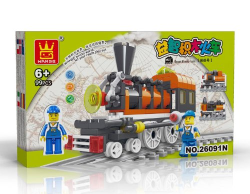 TRAIN Toy - BUILDING BLOCKS 99 pcs set LEGO parts compatible, Fun Christmas Gift