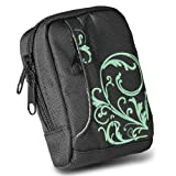 BAXXTAR MANGA II Digital Camera Bag Case * Black / Turquoise * for Canon PowerShot SX280 SX270 SX260 SX240 SX230 S110 IXUS 310 210 IS - Nikon Coolpix S8200 S8100 - Samsung WB2000 WB700 ES65 ES73 ES71 PL150 PL100 -- Sony CyberShot DSC HX20V HX10V HX9V --