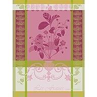 Garnier Thiebaut, Fraisier Rose (Strawberry Plant) Woven Kitchen / Tea Towel, 100 % Cotton