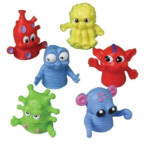US-Toy-Dozen-Assorted-Color-Monster-Finger-Puppets-15-Made-Of-Plastic