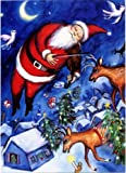 Santa's Fiddle - Chagall Fiddler Art Parody Boxed Holiday Cards
