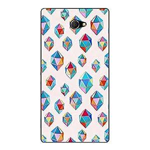 Jugaaduu Diamonds of Dreams Pattern Back Cover Case For Sony Xperia M2 Dual