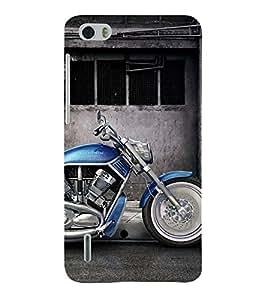 Fantastic Blue Bike 3D Hard Polycarbonate Designer Back Case Cover for Huawei Honor 6