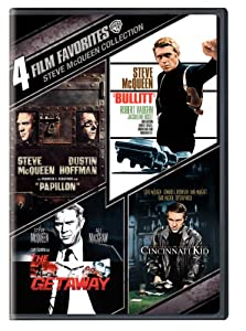 4 Film Favorites: Steve McQueen (Bullitt, The Cincinnati Kid, The Getaway: Deluxe Edition, Papillon)