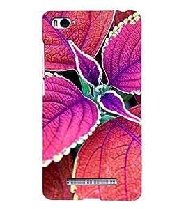 leaf Pattern 3D Hard Polycarbonate Designer Back Case Cover for Xiaomi Mi 4i :: Xiaomi Redmi Mi 4i