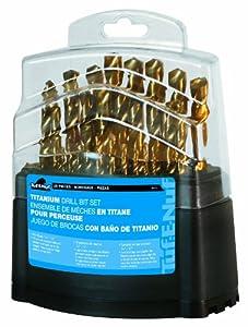Task+Tools Task Tools 09029 29-Piece Tuf-E-Nuf Titanium-Coated HSS Drill Bit Set, 1/16-Inch Through 1/2-Inch Bits In Plastic Case