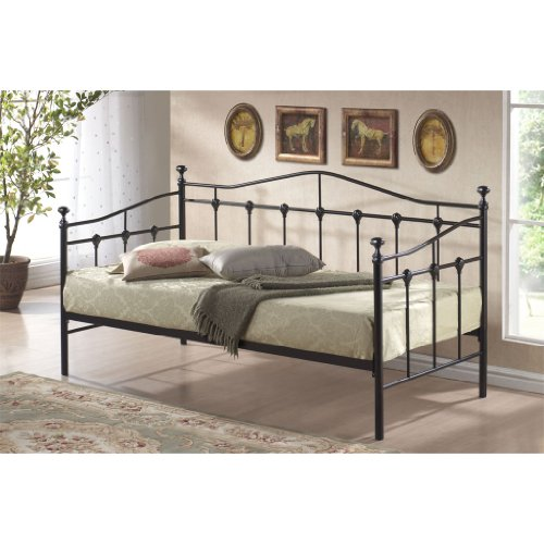 TORINO SINGLE BLACK METAL DAY BED