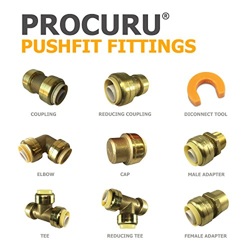 """5 1//2/"""" SharkBite Style Push to Connect LEAD FREE BRASS CAPS Plumbing Connector"""