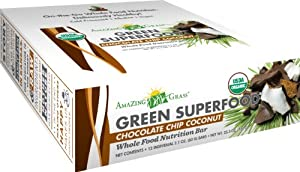Amazing Grass Organic Chocolate Peanut Butter Protein Bar, 12-Count Box