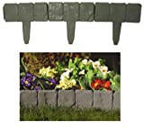 Good Ideas Dark Grey Lakeland Stone Hammer in Lawn Edging (384) Protect your flowerbeds, attractive feature to your garden.