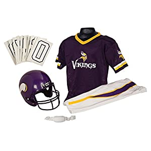 Franklin Sports NFL Minnesota Vikings Youth Licensed Deluxe Uniform Set, Large