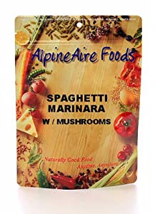 Meatless Entrees Serve 2 - Spaghetti Marinara W mushrms by Alpine Aire