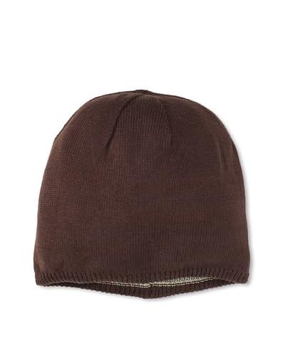 Grace Hats Women's Reversible Jin Watch Slouchy Hat, Brown