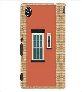 PrintDhaba House Window D-5972 Back Case Cover for SONY XPERIA M4 AQUA (Multi-Coloured)