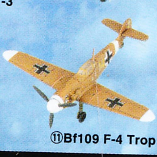Buy Low Price Tomy Takara Famous Airplanes Of The World – Series 3 – BF109 F-4 (Trop / Beige Color – 2.75″ wingspan – 1/44 scale Model Kit) Figure (B002ZVCYME)