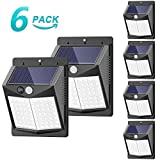 Solar Lights Outdoor, [6 Pack/3 Modes/50LED] SEZAC Motion Sensor Security Lights Solar Security Lights IP 65 Wireless Waterproof Outdoor Lights for Garden Patio Yard Deck Garage Fence Pool (Color: Black)