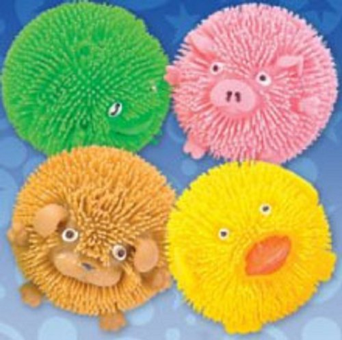 Cheap Koosh Ball: Squishy Farm Critters - Box of 12 Animals