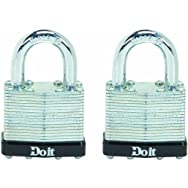 Do it 2-Pack Laminated Steel Padlocks-2PK 1-1/2