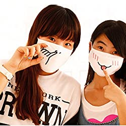 LussoLiv Winter Cute Cartoon Cotton Face Nose Anti Dustproof Mist Fog Protection Prevent Wind Emotiction Mouth Mask