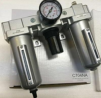 "1/2"" Combination Filter Regulator Lubricator Air Line Particulate Filter Moisture Trap Lubricator Oiler Regulator Clean Air Tools"