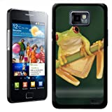 Fancy A Snuggle Red Eye Tree Frog Design Hard Case Clip On Back Cover for Samsung Galaxy S2 i9100