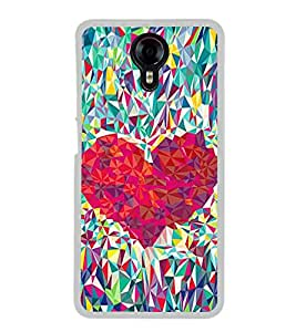 Heart Design 2D Hard Polycarbonate Designer Back Case Cover for Micromax Canvas Xpress 2 E313