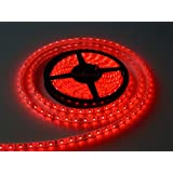 WaterProof SMD 3528 LED STRIP Lights (5 Meter) + DC 12V Adapter + LED Dimmer / Controller (RED)