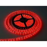 WaterProof SMD 3528 LED STRIP Lights (5 Meter) + DC 12V Adapter + LED Dimmer / Controller (RED)