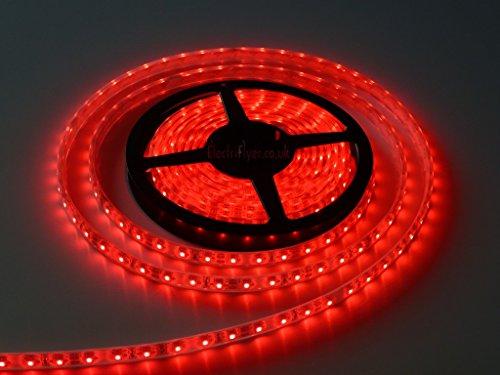 WaterProof SMD 2835 LED STRIP Lights (5 Meter) + DC 12V Adapter + LED Dimmer / Controller (RED)