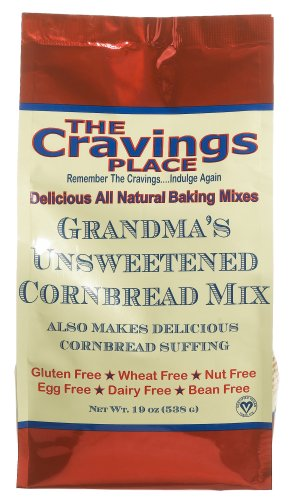 Buy The Cravings Place Grandma's Unsweetened Cornbread, 19-Ounce Bag (Pack of 6) (The Cravings Place, Health & Personal Care, Products, Food & Snacks, Baking Supplies, Baking Mixes, Bread Mixes)