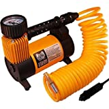 12v Portable Air Compressor / Inflator Includes 3 Adapter Nozzles for Inflating Sports Balls, Rafts and Toys by Master Flow