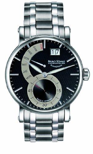 Bruno Söhnle Pesaro 2 Day & Date Herren Uhr Schwarz 17-13073-782