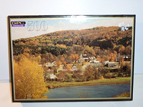 """GPC 500pc PUZZLE NEW HAMPSHIRE FULL SIZE 14 1/2"""" X 20 1/2""""..HARD TO FIND OUT OF PRODUCTION REGENCY COLLECTION BRAND NEW SEALED BOX"""