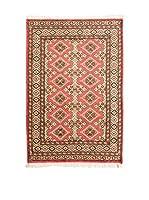 QURAMA Alfombra Kashmir Rojo/Multicolor 150 x 96 cm