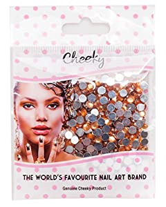 Pack de 1000 Strass Nail Art Cristal 4mm Dos Plat Pierres Bijoux Couleur Orange par VAGA®