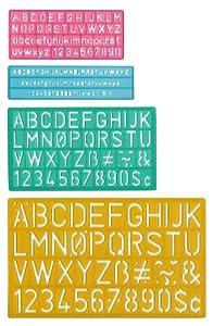 Lettrage Guides 4/Pkg-