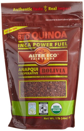 Alter Eco Fair Trade Red Quinoa, 16-Ounce Pouches (Pack of 8)