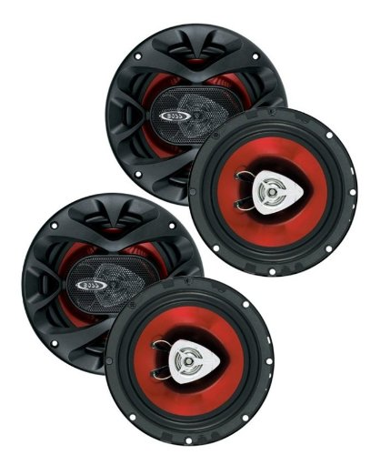 "4) New Boss Ch6520 6.5"" 2-Way 500W Car Audio Speakers"