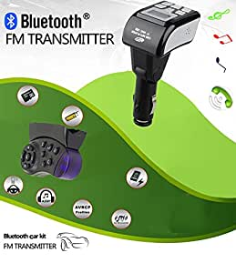 FM Transmitter Bluetooth Handsfree BT Steering Wheel Car Kit MP3 Music Player Adapter with Remote Control Modulator Support USB / SD card
