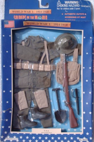 Buy Low Price Formative International 12″ WWI U.S. Dough Boy Infantryman Action Figure Accessary Outfit (1997) (B001ULE5CM)