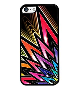 Vizagbeats Colored Spikes Back Case Cover for Apple Iphone 5C