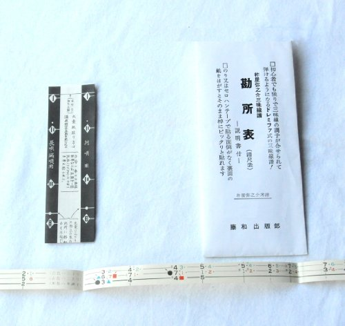 三味線 勘所表 運指表 シール samisen position mark seal (送料など込)