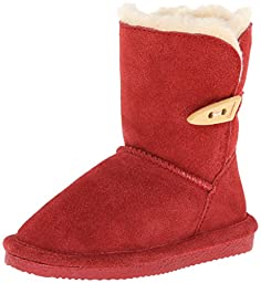 BEARPAW Victorian Boot (Toddler/Little Kid/Big Kid),Cranberry,12 M US Little Kid